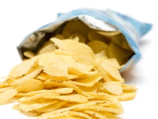 Potato chips are bad for your health and may increase your risk of becoming obese. (©iStockphoto.com/Marc Dietrich)